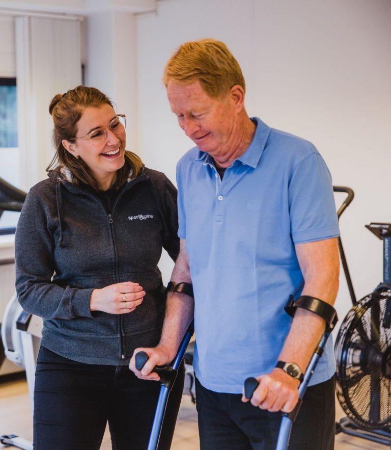 Revalideren oefentherapie Sport&Spine Operatie Harderwijk