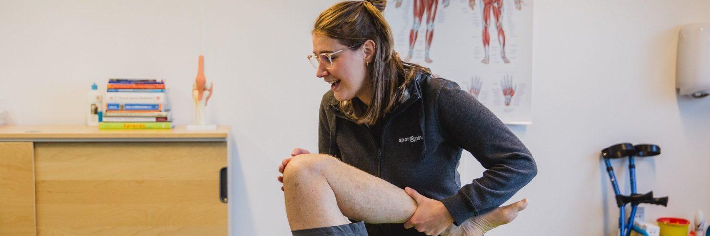 Revalidatie oefentherapie nieuwe knie Sport&Spine Harderwijk